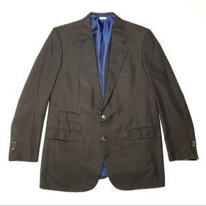 Brioni Brown 100% Silk Notched Lapel Blazer